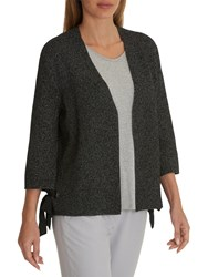Betty And Co. Flecked Cardigan Grey White