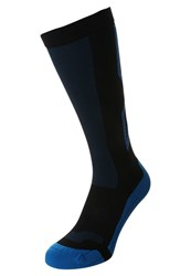 2Xu Performance X Knee High Socks Black Director Blue