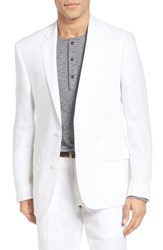 Nordstrom Men's Big And Tall Men's Shop Classic Fit Linen Blazer White