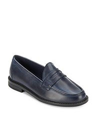 Cole Haan Pinch Campus Slip On Leather Loafers Blue