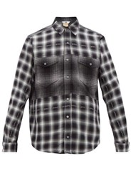 Eytys Tricera Checked Cotton Shirt Black Grey