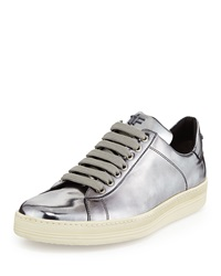 Tom Ford Mirrored Leather Low Top Sneaker