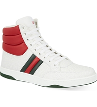 Gucci Ronnie Padded High Top Trainers White