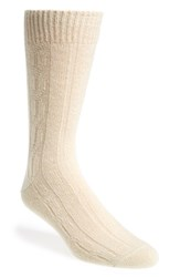 Men's John W. Nordstrom Cable Knit Socks White Ivory
