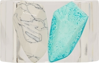 Stella Mccartney Turquoise Stone Clear Plexy Bangle
