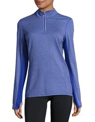 Marc New York Active Quarter Zip Top Blue