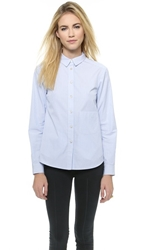 Marc By Marc Jacobs Candy Stripe Shirting Pacific Blue Multi
