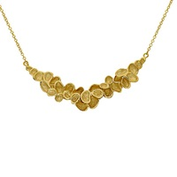 London Road 9Ct Gold Leaves Necklace Gold