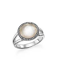 Ippolita Sterling Silver Stella Ring In Mother Of Pearl With Diamonds White Silver