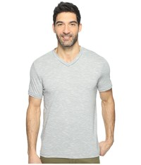 Perry Ellis Texture Slub V Neck Tee Shirt Monument Men's Clothing Gray