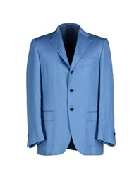 Kiton Suits And Jackets Blazers Men Pastel Blue