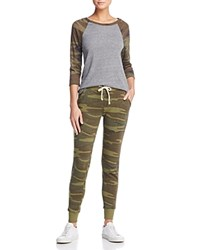 Alternative Apparel Snug Camo Long Pajama Set Eco Gray Camouflage