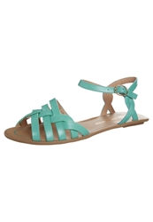 Chocolate Schubar Erica Sandals Mint Light Green