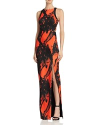 Bariano Lily Cage Back Printed Gown