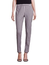 St. John Cabana Stripe Cropped Denim Pants