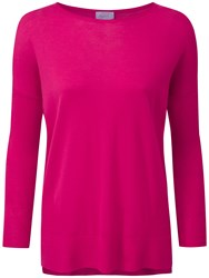 Pure Collection Adrianna Featherweight Cashmere Jumper Summer Pink