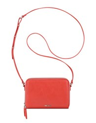 Nine West Ania Faux Calf Leather Crossbody Bag Red