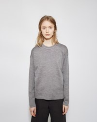 Alexander Wang Seamless Pocket Pullover Grey Melange