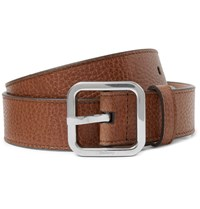 Mulberry 3Cm Brown Full Grain Leather Belt Brown