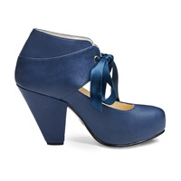 Nine To Five Trude Laced Ankle Boot Blue