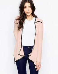 Wal G Cardigan With Zip Detail Pink