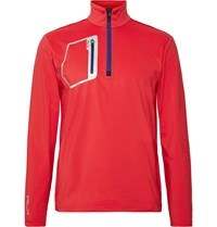 Rlx Ralph Lauren Stretch Jersey Half Zip Golf Top Red