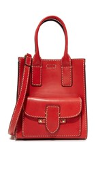 Frye Casey Mini North South Tote Red
