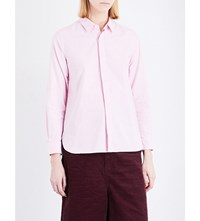 Chocoolate Embroidered Logo Cotton Shirt Pink