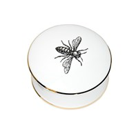 Rory Dobner Bee Trinket Box Black And White