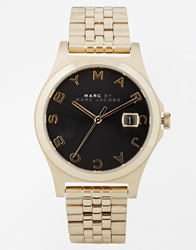 Marc By Marc Jacobs The Slim Black Face Watch Mbm3315