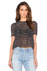 American Vintage Titusville Crop Top Black And White