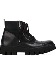 Rocco P. Lace Up Combat Boots Black