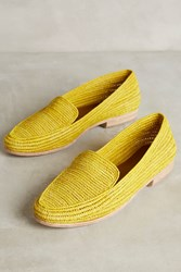 Anthropologie Proud Mary Essa Loafers Yellow Motif