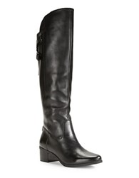 Anne Klein Junip Leather Knee High Boots Black