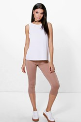Boohoo 3 4 Length Basic Leggings Camel