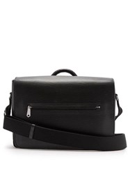 61082ea766 Paul Smith Textured Leather Messenger Bag Black