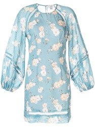 We Are Kindred Mia Floral Print Dress Blue