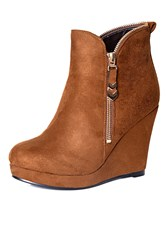Alice And You Wedge Ankle Boot Tan