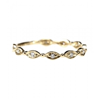 Stone 18Kt Yellow Gold Yasmine Ring With White Diamonds Yellow Gold And Diamonds
