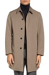 Sanyo Men's Lincoln Classic Fit Trench Coat Dark Taupe