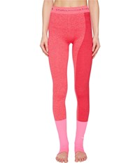 Adidas By Stella Mccartney Yoga Seamless Tights S97516 Shock Pink Ruby Red Women's Workout Orange