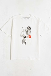 Tee Library Pin Up Girl See Through Tee White