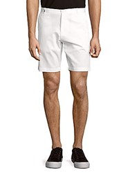 Calvin Klein Bedford Solid Slim Fit Cotton Shorts White