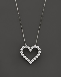 Bloomingdale's Diamond Heart Pendant Necklace In 14K Yellow Gold 3.0 Ct. T.W. White Gold