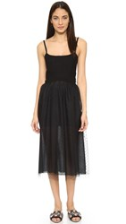 Red Valentino Tea Length Dress Black