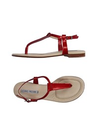 Luciano Padovan Toe Strap Sandals Red