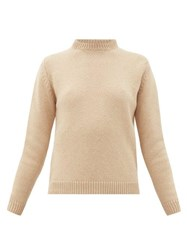 Connolly Round Neck Camel Hair Sweater Camel