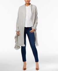 Charter Club Wool Cashmere Ruffled Wrap Only At Macy's Heather Crystal