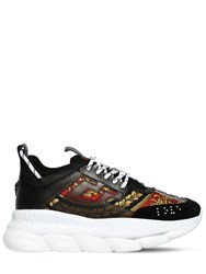 Versace Chain Reaction Heritage Baroque Sneakers Black