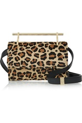 M2malletier Fabricca Mini Leopard Print Calf Hair Shoulder Bag